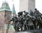 OTTAWA, ON - NOVEMBER 10:Preparations are under way War Memorial on the eve of Remembrance Day.