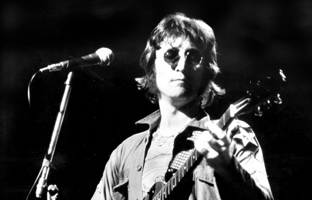 John Lennon. Performing at th One To One Concert in Madison