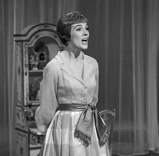 "Andrews singing on ""The Julie Andrews Show,"" 1965"