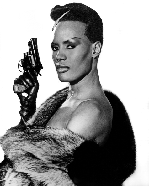 Publicity still of Jamaican singer and actress Grace Jones in the film 'A View to a Kill' (MGM/UA), 1985. (Photo by John D. Kisch/Separate Cinema Archive/Getty Images)