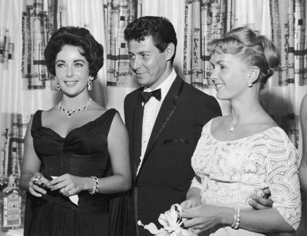 Elizabeth Taylor, Eddie Fisher and Debbie Reynolds in 1958.