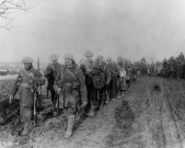 Canadian troops returning from the trenches. November, 1916. Battle of the Somme. British Front - France '16 General Battle Somme. (Photo by: Robert Hunt Library/Windmill Books/UIG via Getty images)