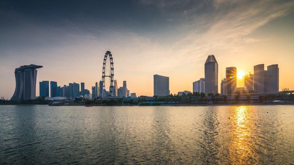Sunset at Singapore