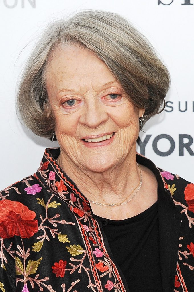"""LONDON, ENGLAND - OCTOBER 13: Maggie Smith attends a screening of """"The Lady In The Van"""" during the BFI London Film Festival at Odeon Leicester Square on October 13, 2015 in London, England. (Photo by Dave J Hogan/Getty Images)"""