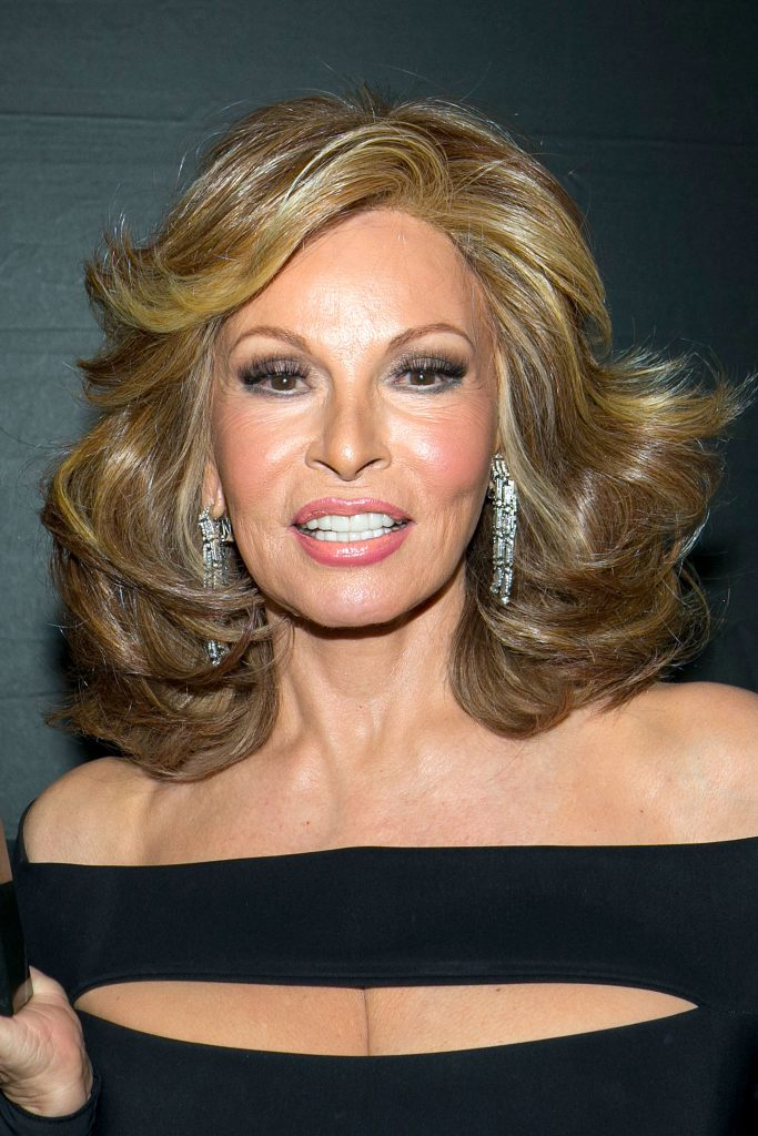 HOLLYWOOD, CA - JUNE 27: Raquel Welch poses for a portrait with her award at the NALIP 16th Annual Latino Media Awards show at W Hollywood on June 27, 2015 in Hollywood, California. (Photo by Gabriel Olsen/Getty Images)