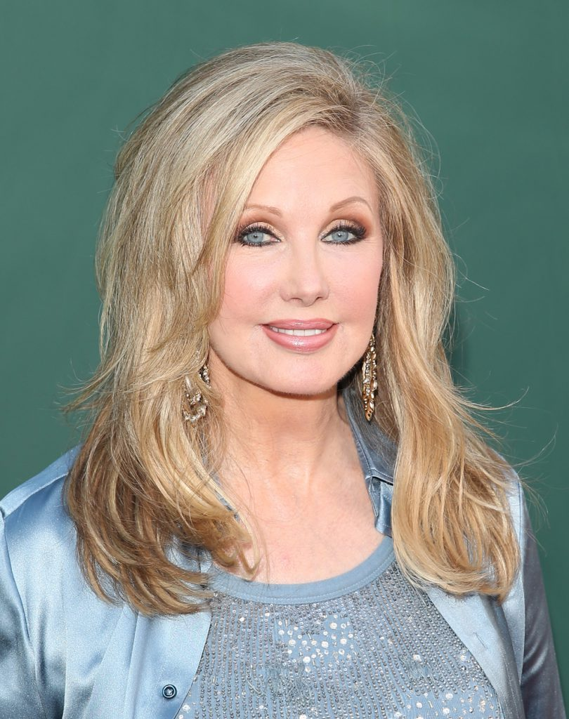BEVERLY HILLS, CA - JULY 8: Morgan Fairchild attends the Television Critics Association Summer Press Tour - Hallmark Channel & Hallmark Movie Channel Celebration held at the Northpole Manor on July 8, 2014 in Beverly Hills, California. (Photo by JB Lacroix/WireImage)