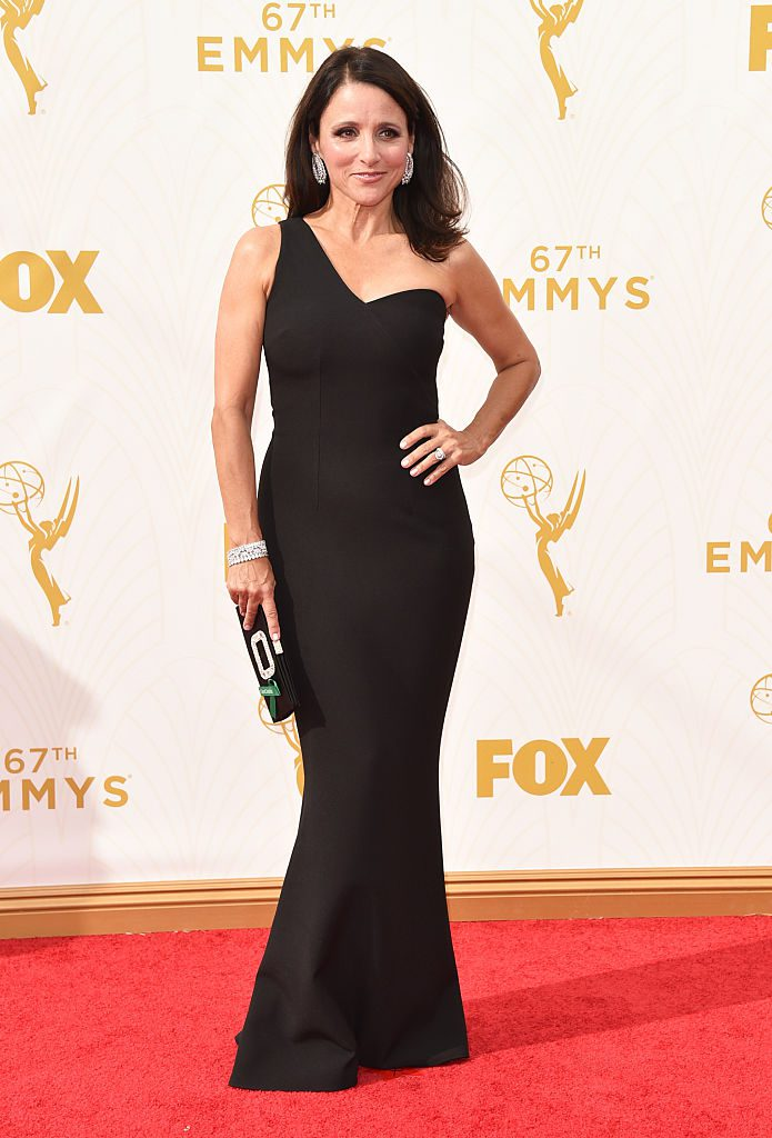 LOS ANGELES, CA - SEPTEMBER 20: Actress Julia Louis-Dreyfus attends the 67th Annual Primetime Emmy Awards at Microsoft Theater on September 20, 2015 in Los Angeles, California. (Photo by John Shearer/WireImage)