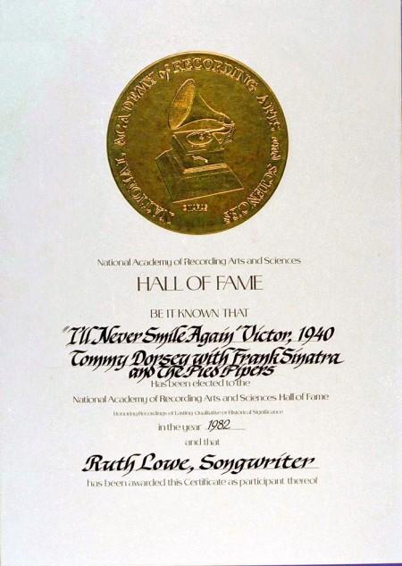 HR Lowe Grammy Cert