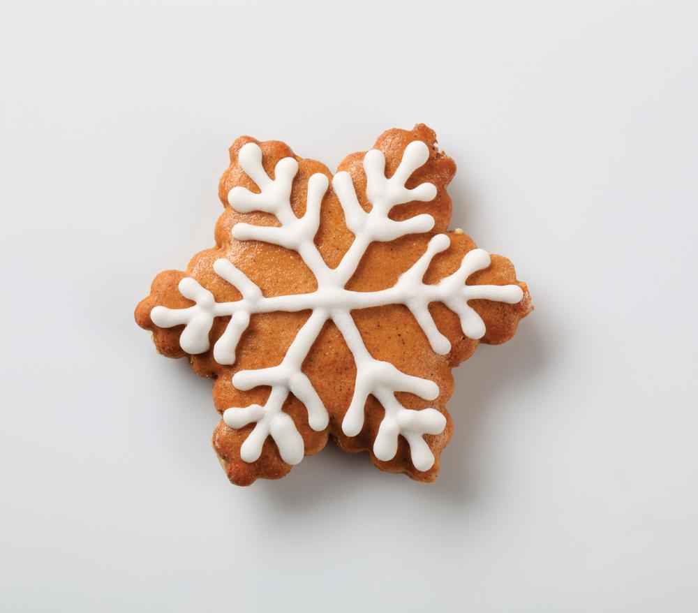 Gingerbread cookie - snowflake