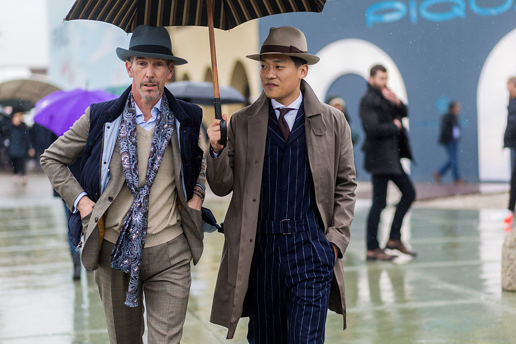 FLORENCE, ITALY - JANUARY 14: Guests during Pitti Uomo 89 on January 14, 2016, in Florence, Italy. (Photo by Christian Vierig/Getty Images)