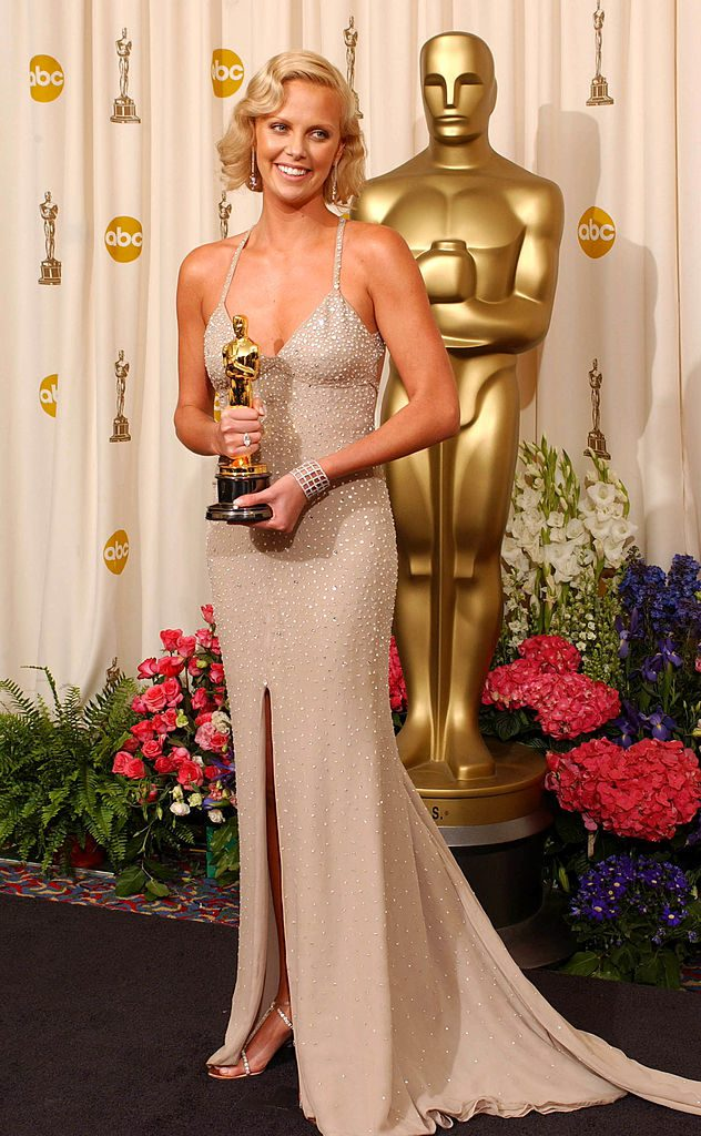 """Charlize Theron, winner for Best Actress for """"Monster"""" (Photo by J. Vespa/WireImage)"""