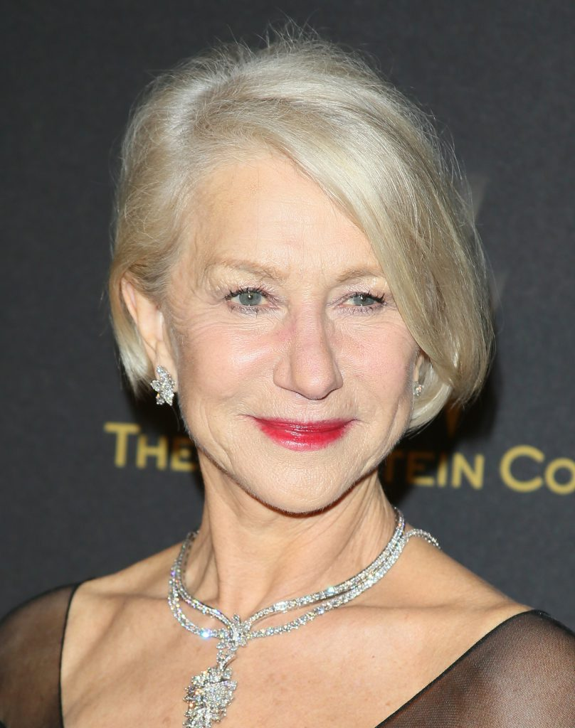 LOS ANGELES, CA - JANUARY 10: Helen Mirren attends The Weinstein Company and Netflix Golden Globe Party, presented with DeLeon Tequila, Laura Mercier, Lindt Chocolate, Marie Claire and Hearts On Fire at The Beverly Hilton Hotel on January 10, 2016 in Beverly Hills, California.(Photo by JB Lacroix/WireImage)
