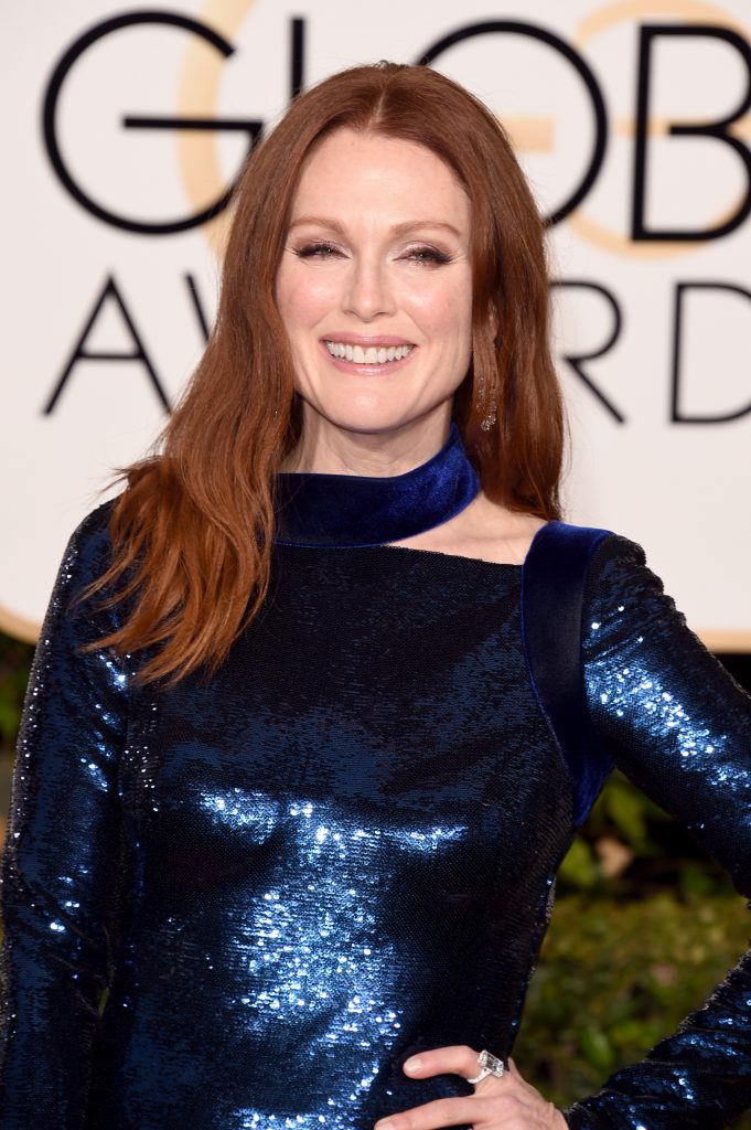 BEVERLY HILLS, CA - JANUARY 10: Actress Julianne Moore attends the 73rd Annual Golden Globe Awards held at the Beverly Hilton Hotel on January 10, 2016 in Beverly Hills, California. (Photo by Jason Merritt/Getty Images)