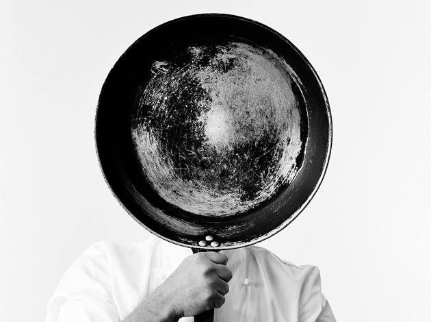 cook with frying pan