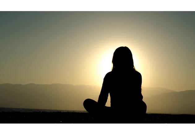 meditation silhouette