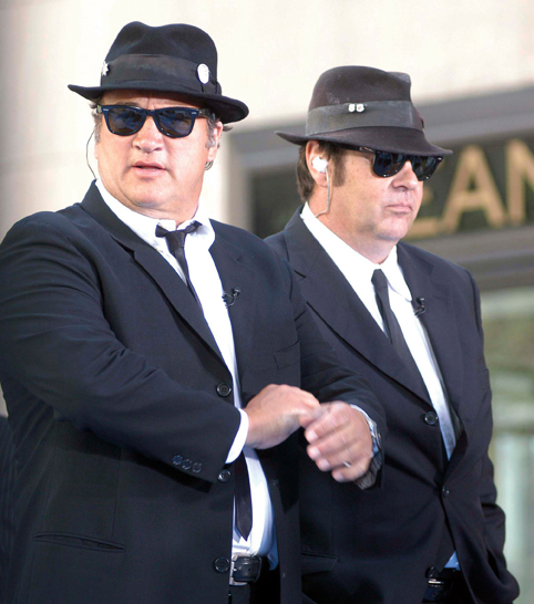 "Jim Belushi and Dan Aykroyd of The Blues Brothers and Hulk Hogan Visit the Weekend ""Today Show Early Edition"" - July 9, 2005"