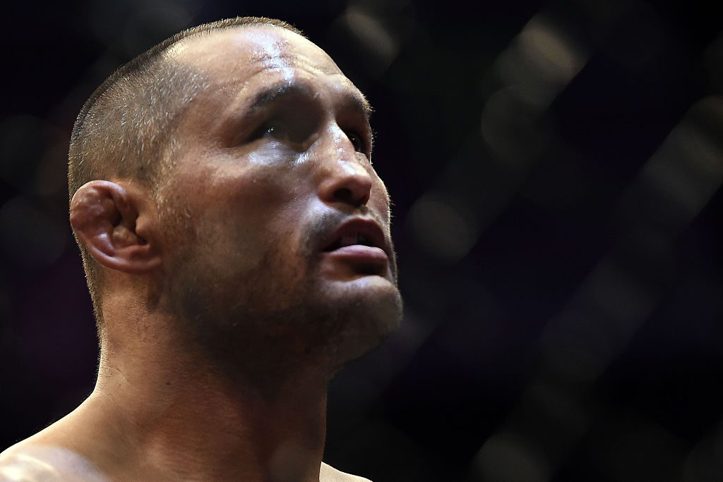 NEW ORLEANS, LA - JUNE 06: Dan Henderson waits in his corner prior to his middleweight bout against Tim Boetsch during the UFC Fight Night event at Smoothie King Center on June 6, 2015 in New Orleans, Louisiana. (Photo by Stacy Revere/ Zuffa LLC/Zuffa LLC via Getty Images)