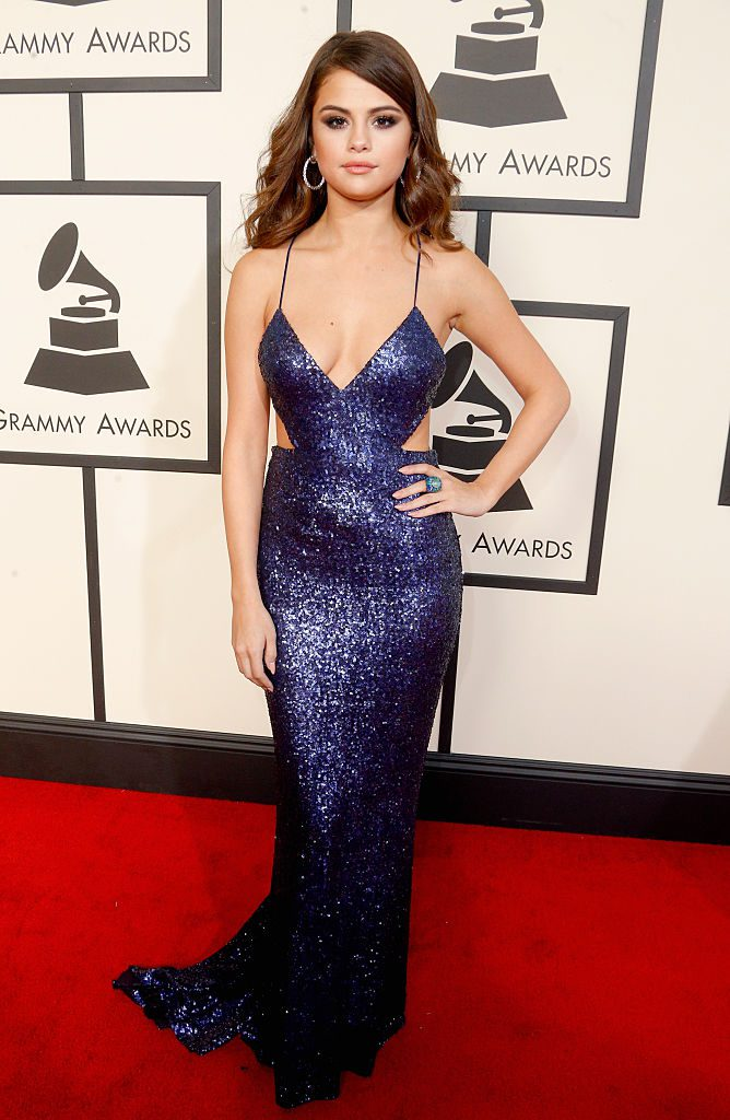 LOS ANGELES, CA - FEBRUARY 15: Recording artist Selena Gomez attends The 58th GRAMMY Awards at Staples Center on February 15, 2016 in Los Angeles, California. (Photo by Jeff Vespa/WireImage)