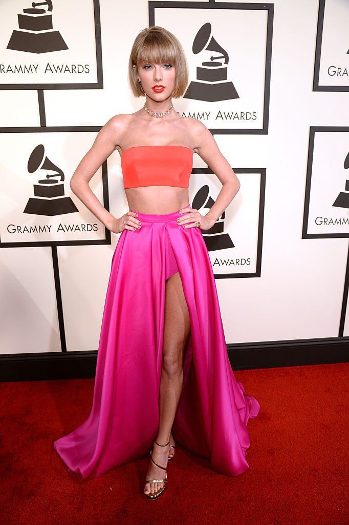 LOS ANGELES, CA - FEBRUARY 15: Taylor Swift attends The 58th GRAMMY Awards at Staples Center on February 15, 2016 in Los Angeles, California. (Photo by Kevin Mazur/WireImage)