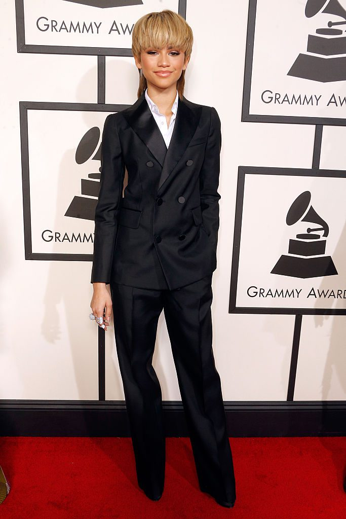 LOS ANGELES, CA - FEBRUARY 15: Actress/singer Zendaya attends The 58th GRAMMY Awards at Staples Center on February 15, 2016 in Los Angeles, California. (Photo by Jeff Vespa/WireImage)