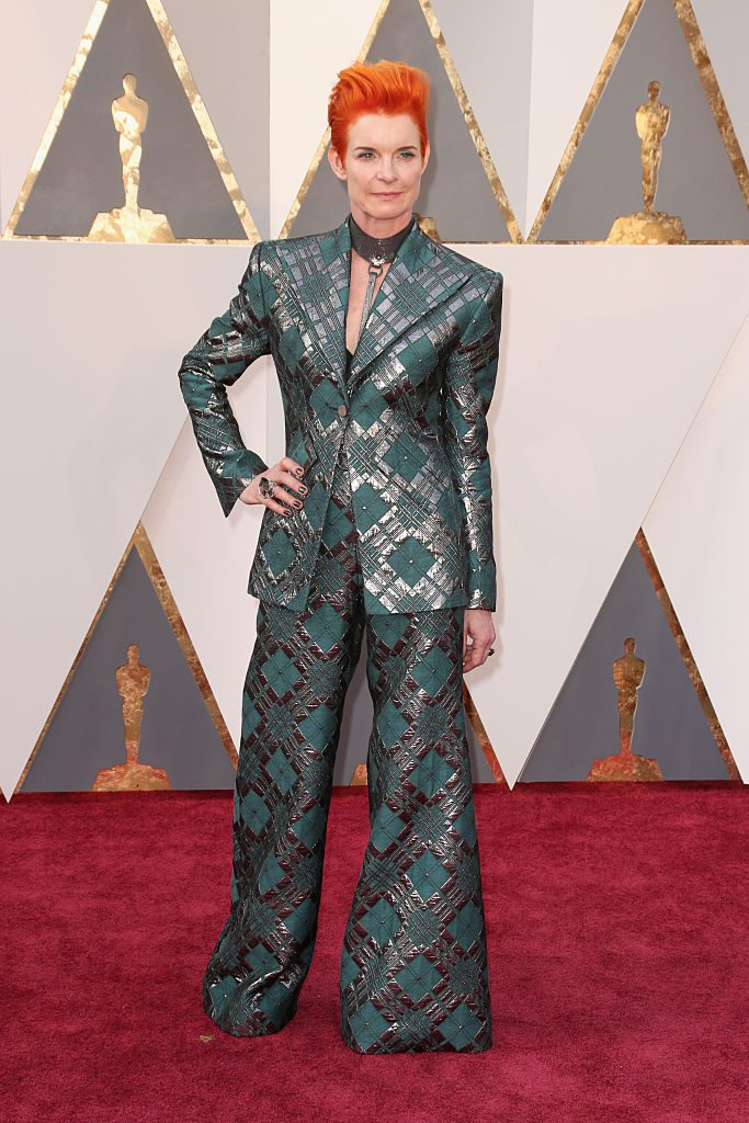 HOLLYWOOD, CA - FEBRUARY 28: Costume designer Sandy Powell attends the 88th Annual Academy Awards at Hollywood & Highland Center on February 28, 2016 in Hollywood, California. (Photo by Todd Williamson/Getty Images)