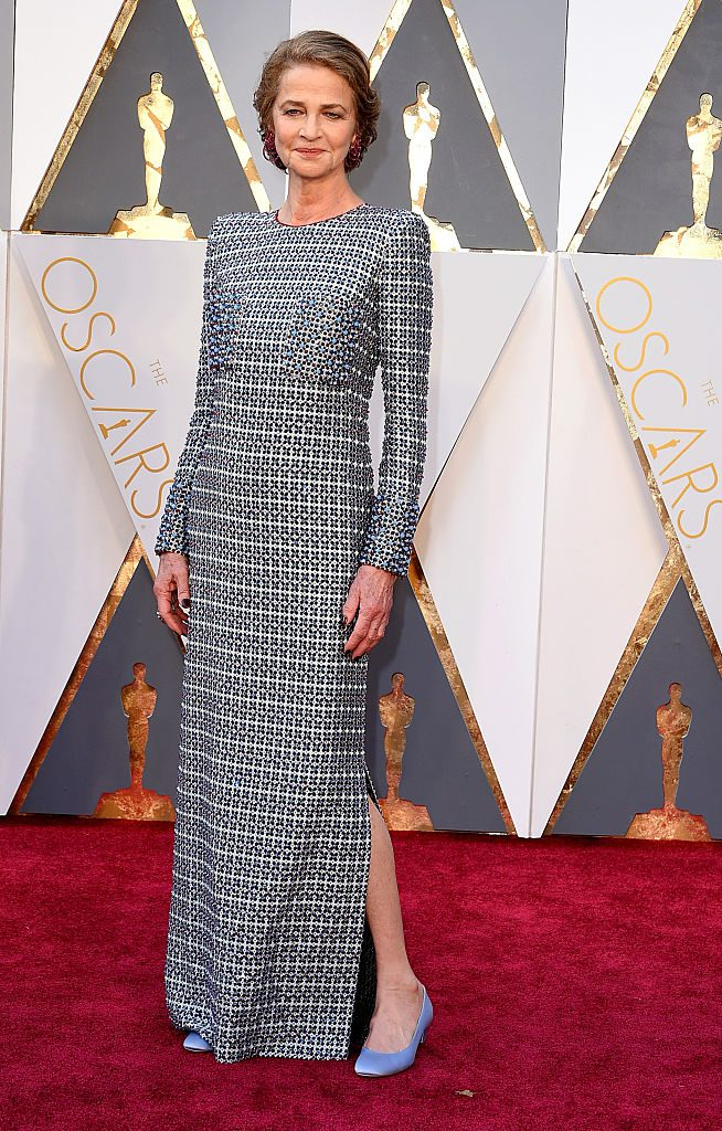 HOLLYWOOD, CA - FEBRUARY 28: Actress Charlotte Rampling attends the 88th Annual Academy Awards at Hollywood & Highland Center on February 28, 2016 in Hollywood, California. (Photo by Steve Granitz/WireImage)