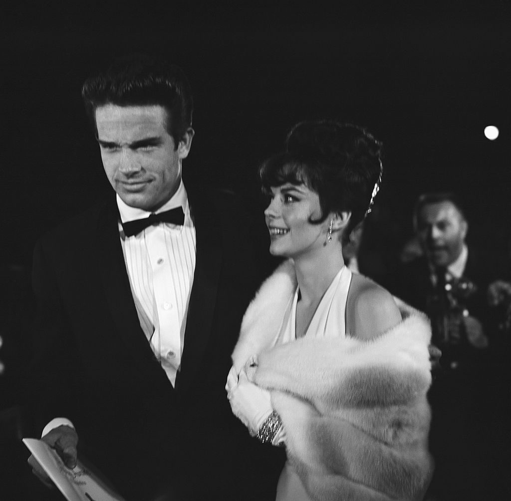 UNITED STATES - APRIL 09: April 9, 1962, California, Santa Monica, Warren Beatty with Natalie Wood Attending the Academy Awards at Santa Monica Civic Auditorium. (Photo by Michael Ochs Archives/Getty Images)