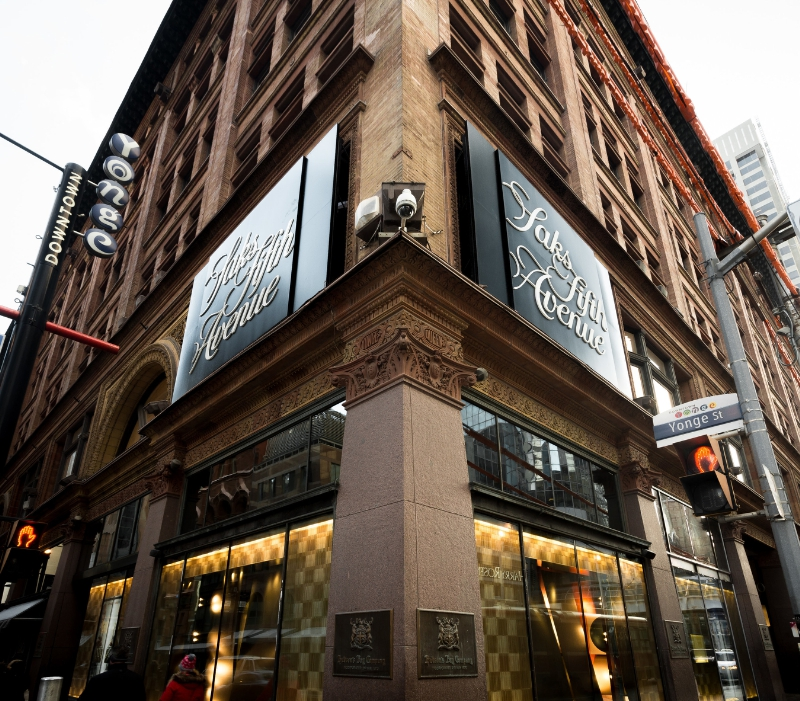 SAKS FIFTH AVENUE'S CF TORONTO EATON CENTRE (PRNewsFoto/Saks Fifth Avenue)