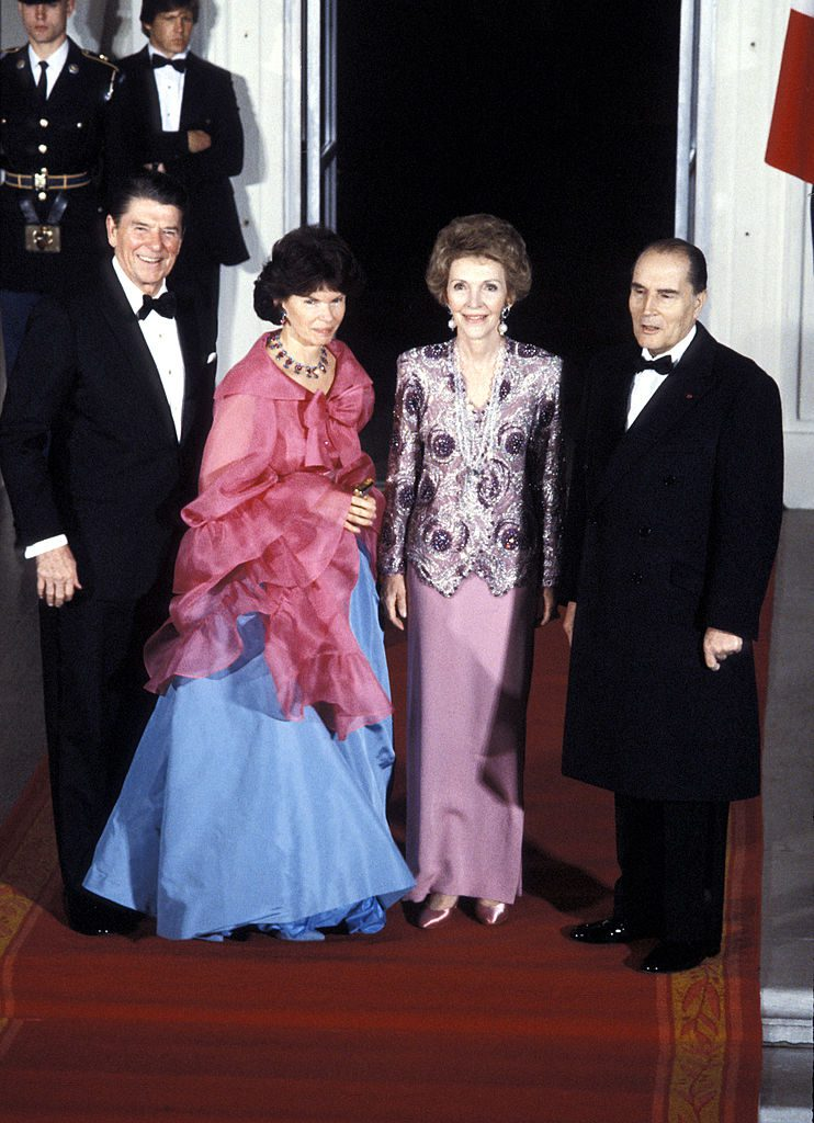 Ronald Reagan, Nancy Reagn, and King of Spain during State Department Dinner Honoring The King of Spain - July 22, 1984 at White House in Washington D.C., United States. (Photo by Ron Galella/WireImage)