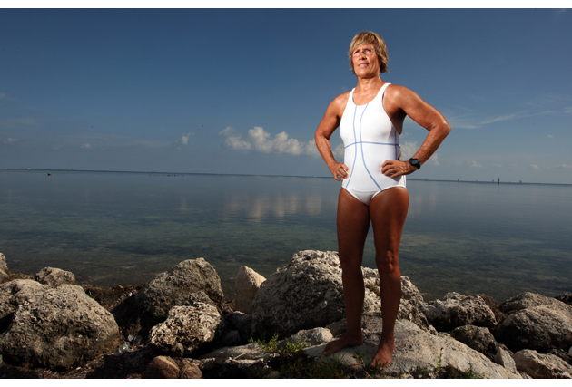 long distance swimmer Diana Nyad