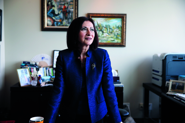 TORONTO, ON - JUNE 4: Portrait of Ann Cavoukian, privacy commissioner, in her office in downtown Toronto for a story on police disclosure of mental health records in police background checksThis is a follow to our Presumed Guilty series. (Colin McConnell/Toronto Star via Getty Images)