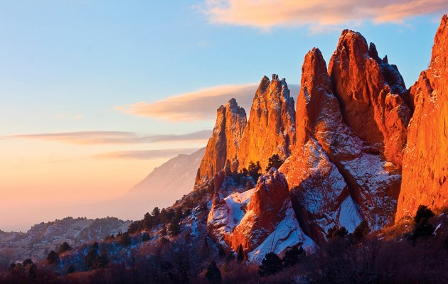 Dusting of Snow Garden of the Gods