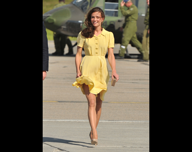 CALGARY, AB - JULY 07: Catherine, Duchess of Cambridge arrive at the Calgary International Airport on July 7, 2011 in Calgary, Canada. (Photo by George Pimentel/WireImage)