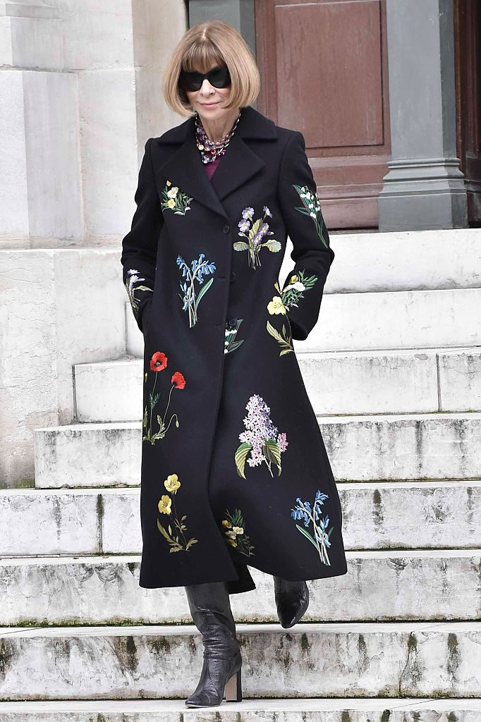 PARIS, FRANCE - MARCH 07: Anna Wintour is seen arriving at Stella McCartney fashion show during Paris Fashion Week : Womenswear Fall Winter 2016/2017 on March 7, 2016 in Paris, France. (Photo by Jacopo Raule/GC Images)