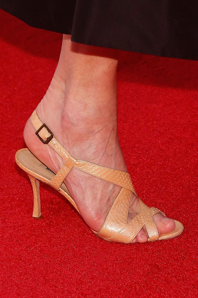 """NEW YORK, NY - APRIL 13: Conde Nast Artistic Director Anna Wintour, shoe detail, attends the world premiere of """"First Monday in May"""" during the 2016 Tribeca Film Festival at John Zuccotti Theater at BMCC Tribeca Performing Arts Center on April 13, 2016 in New York City. (Photo by Taylor Hill/Getty Images)"""