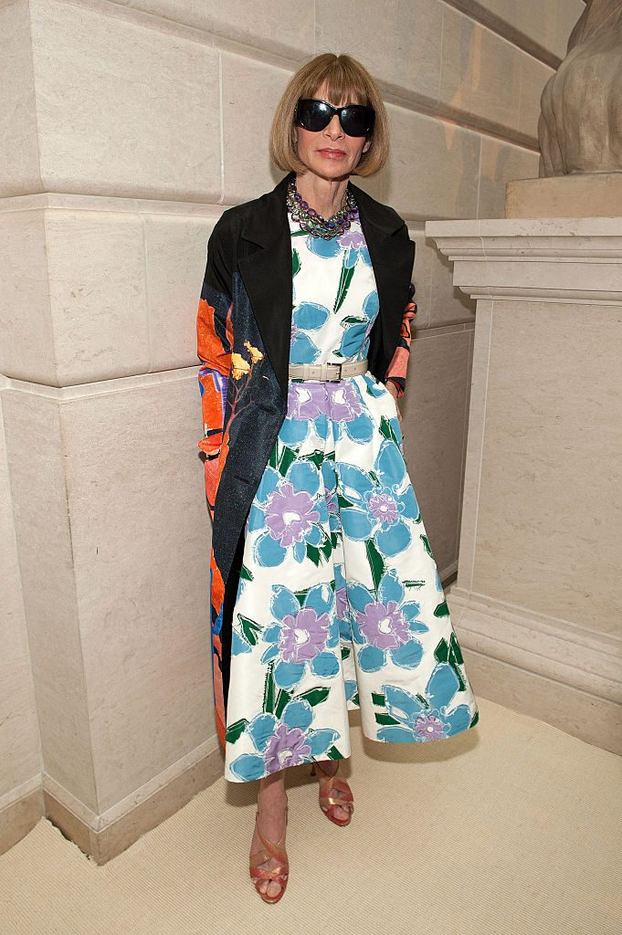 "NEW YORK, NY - MAY 02: Anna Wintour attends the ""Manus x Machina: Fashion in an Age of Technology"" press preview at the Metropolitan Museum of Art on May 2, 2016 in New York City. (Photo by D Dipasupil/FilmMagic)"
