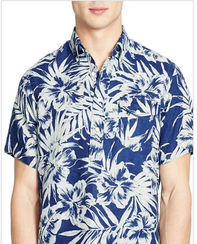 881775500 Screen Shot 2016-05-13 at 5.24.49 PM. Polo Ralph Lauren Floral Print linen  shirt ...