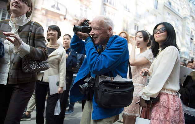 PARIS, FRANCE - SEPTEMBER 30:  Photographer Bill Cunningham is seen working before the Chanel show at the Grand Palais as part of Paris Fashion Week Womenswear Spring/Summer 2015 on September 30, 2014 in Paris, France.  (Photo by Kristy Sparow/Getty Images)