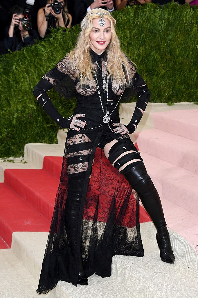 "NEW YORK, NY - MAY 02: Madonna attends the ""Manus x Machina: Fashion In An Age Of Technology"" Costume Institute Gala at Metropolitan Museum of Art on May 2, 2016 in New York City. (Photo by Venturelli/FilmMagic)"