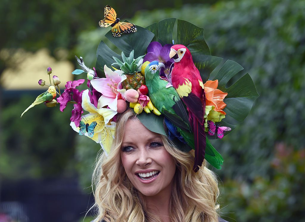 ASCOT, ENGLAND - JUNE 14: Anouska Lancaster attends Day 1 of Royal Ascot on June 14, 2016 in Ascot, England. (Photo by Anwar Hussein/WireImage)