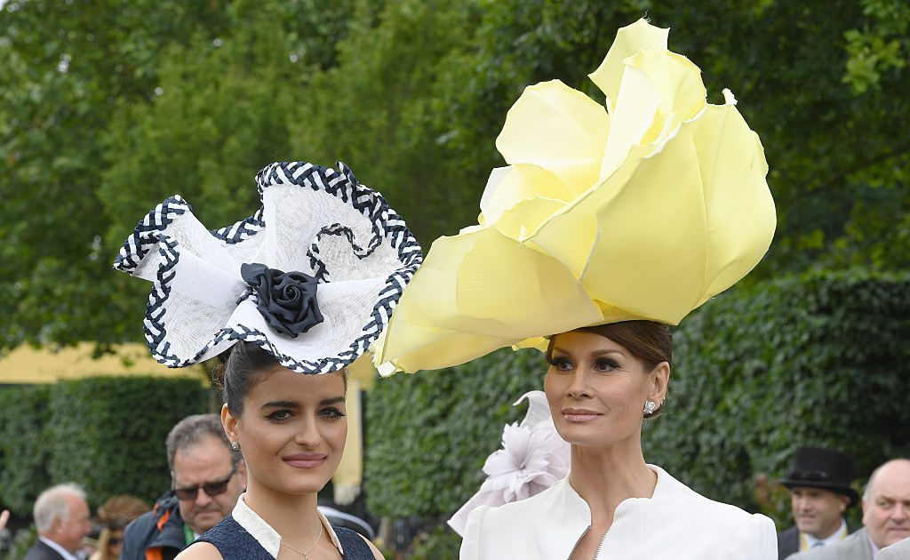 ASCOT, ENGLAND - JUNE 14: Isabell Kristensen (right) and guest attend Day 1 of Royal Ascot on June 14, 2016 in Ascot, England. (Photo by Anwar Hussein/WireImage)