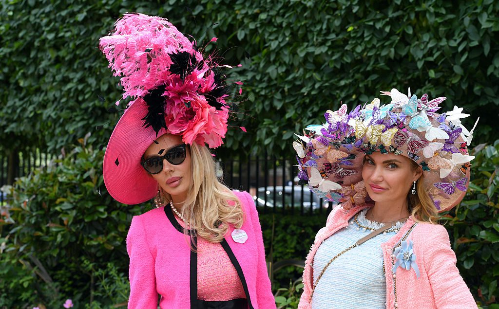 ASCOT, ENGLAND - JUNE 15: Racegoers in colourful hats attend Day 2 of Royal Ascot on June 15, 2016 in Ascot, England. (Photo by Anwar Hussein/WireImage)