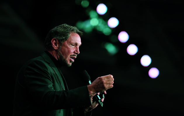 Oracle co-founder Larry Ellison. (Photo by Justin Sullivan/Getty Images)