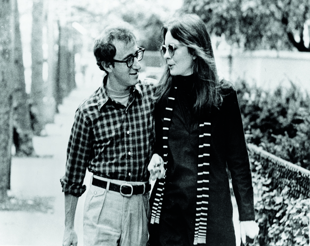 American actors Diane Keaton and Woody Allen walk along a street and talk in a scene from 'Annie Hall,' directed by Allen, New York, New York, 1977. (Photo by United Artists/courtesy of Getty Images)