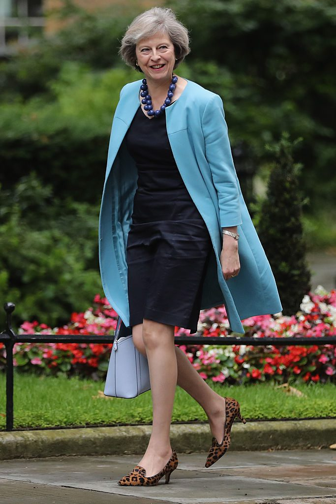 LONDON, ENGLAND - JUNE 27: Home Secretary Theresa May arrives for a cabinet meeting at Downing Street on June 27, 2016 in London, England. British Prime Minister David Cameron is due to chair an emergency Cabinet meeting this morning, after Britain voted to leave the European Union. Chancellor George Osborne spoke at a press conference ahead of the start of financial trading and outlining how the Government will 'protect the national interest' after the UK voted to leave the EU. (Photo by Dan Kitwood/Getty Images)
