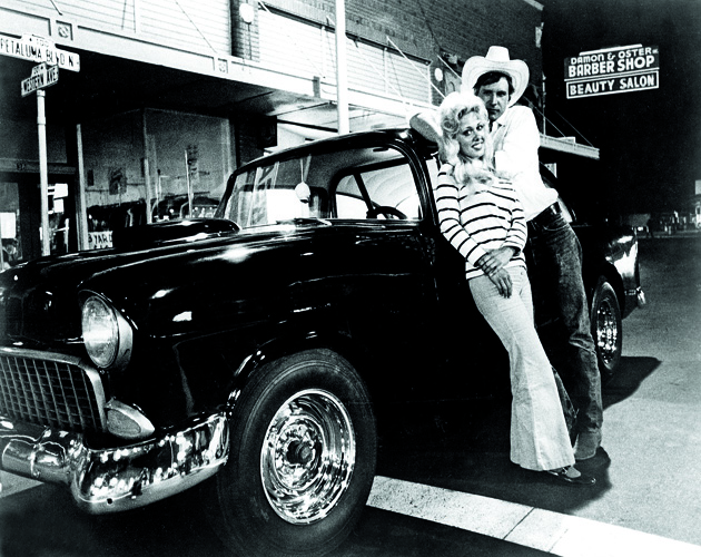 AMERICAN GRAFFITI, Linda Christensen, Harrison Ford, 1973