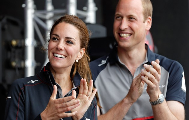 PORTSMOUTH, UNITED KINGDOM - JULY 24: (EMBARGOED FOR PUBLICATION IN UK NEWSPAPERS UNTIL 48 HOURS AFTER CREATE DATE AND TIME) Catherine, Duchess of Cambridge and Prince William, Duke of Cambridge attend the prize giving presentation at the America's Cup World Series on July 24, 2016 in Portsmouth, England. (Photo by Max Mumby/Indigo/Getty Images)