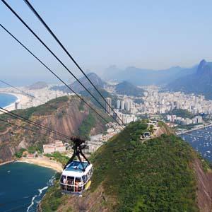 Sugarloaf, mountain, Rio de Janeiro, Brazil, South America, gondola, beach, city, ocean