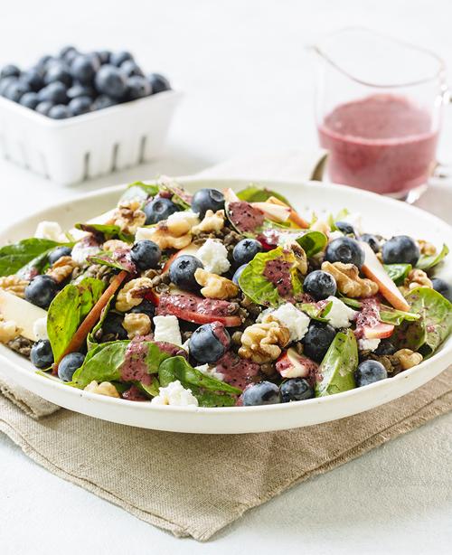 Blueberry Spinach Lentil Saladcrop