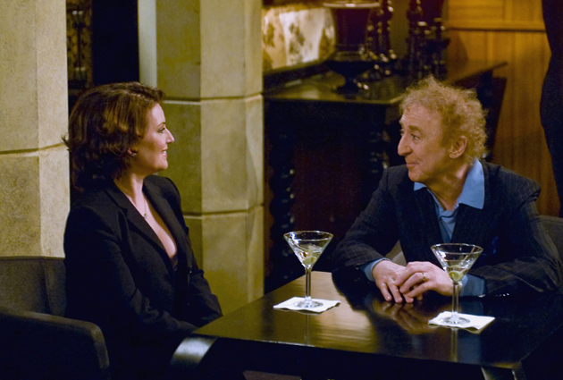 "WILL & GRACE -- ""Sex, Losers & Videotape"" Episode 19 -- Pictured: (l-r) Megan Mullally as Karen Walker, Gene Wilder as Mr. Stein -- Photo by: Chris Haston/NBCU Photo Bank"